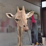 Kop van Giraffe voor theatervoorstelling Oerol festival