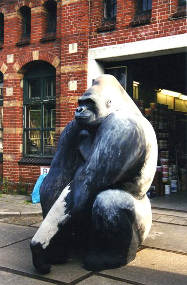 Gorilla in opdracht voor het Wereld Natuur Fonds