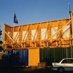 'Hotel de witte Zwaan' achterkant decor gevel