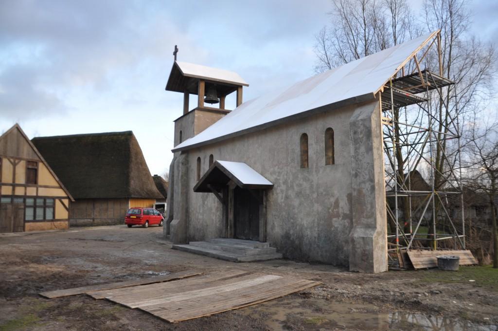 Decor kerk voor de film 'De sint'